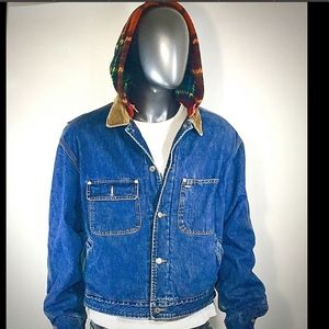 Polo Ralph Lauren Hooded Denim Trucker Jean Jacket